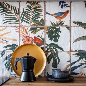 Hiszpańskie płytki to marka Mainzu Ceramica. Projekt: Maria Nielubszyc, pracownia Pura Design. Fot. Jakub Nanowski