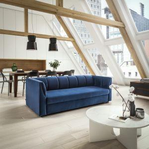 Wybór sof, foteli i narożników w przeróżnych stylach jest tu naprawdę spory. Pozostaje tylko wybrać najbardziej pasujący do aranżacji kolor pokrycia i nasz stylowy salon na niewielkiej powierzchni gotowy. Na zdj. model Paxi Sweet Sit