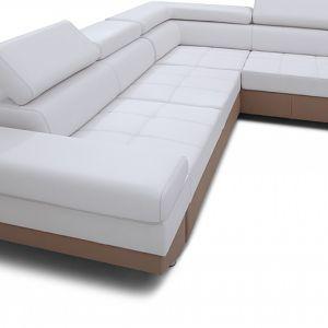 Sofa może być wykończona skórą i tkaniną. Ponadto istnieje możliwość łączenia różnych obić, faktur i struktur. Fot. Caya Design