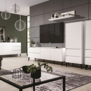 Białe meble do salonu z kolekcji Solo dostępne w ofercie firmy Wajnert Meble. Fot. Wajnert Meble