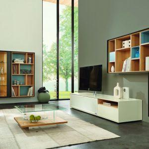 Białe meble do salonu z kolekcji Scopia dostępne w ofercie firmy Huelsta. Fot. Huelsta