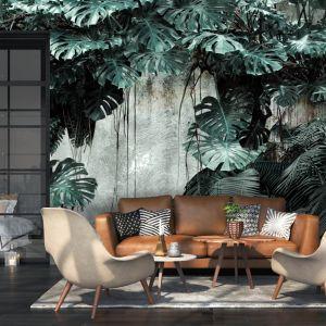 Pomysł na ścianę w salonie - tapeta artystyczna. Tapeta The Rainforest 2.0. Marka: Walltime