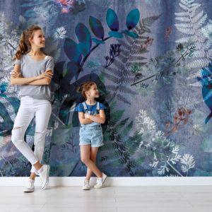 Pomysł na ścianę w salonie - tapeta artystyczna. Tapeta Flora 2.0. Marka: Walltime