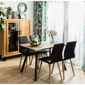 Prostokątny drewniany stół w nowoczesnym stylu, stół dostępny w sklepach Agata Meble. Fot. Agata Meble