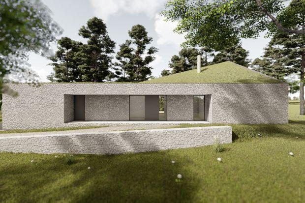 Dom z wapienia. Oryginalny projekt w Biskupicach