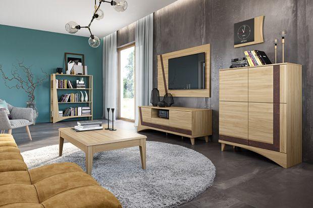 Meble to podstawa wyposażenia salonu. Zobaczcie modne kolekcje w kolorze drewna.
