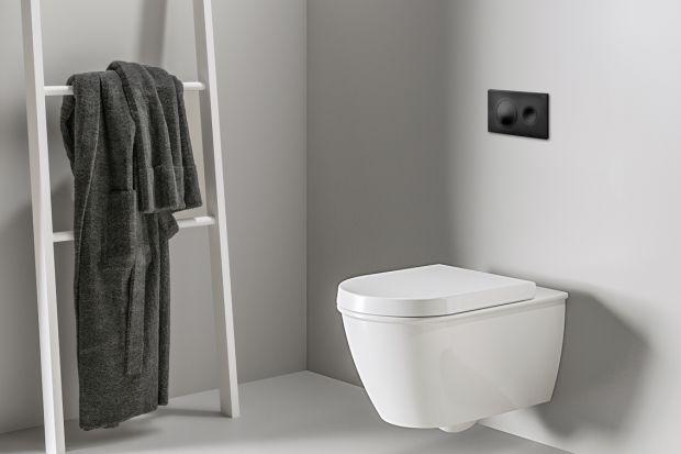 Czerń jest obecnie jednym z najważniejszych i najmodniejszych kolorów w świecie łazienek.A czy wiecie, że możecie nawet zamontować przyciski do wc wwersji czarny mat? Zobaczcie ten ciekawy pomysł do łazienki!