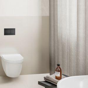 Seria przycisków uruchamiających Visign for Style firmy Viega to jedna z nowości do łazienek 2020 w modnej czerni. Fot. Viega