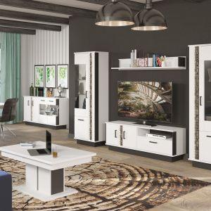 Kolekcja mebli Marco pięknie sprawdzi się w salonie urządzonym w nowoczesnym i minimalistycznym stylu. Fot. Salony Agata