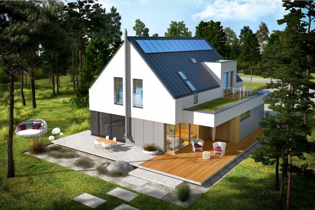 Ten projekt to propozycja dla inwestorów, którzy szukają nowoczesnego i energooszczędnego domu z poddaszem użytkowym. Ekologiczny i tani w użytkowaniu, a do tego piękny i bardzo funkcjonalny w pełni odpowiada na wszystkie współczesne potrzeby. Z