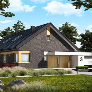 Projekt Daniel IV G2 to świetny wybór dla wszystkich, marzących o nowoczesnym domu z wnętrzem pełnym światła i ciepła. Projekt: pracownia Archipelag