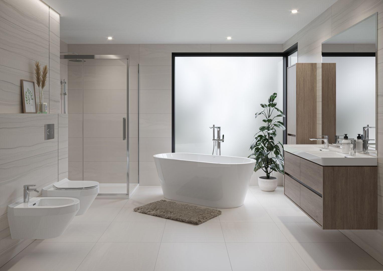Bogata i wieloelementowa kolekcja Crea od marki Cersanit to idealny pomysł na łatwą i stylową aranżację każdej łazienki. Fot. Cersanit