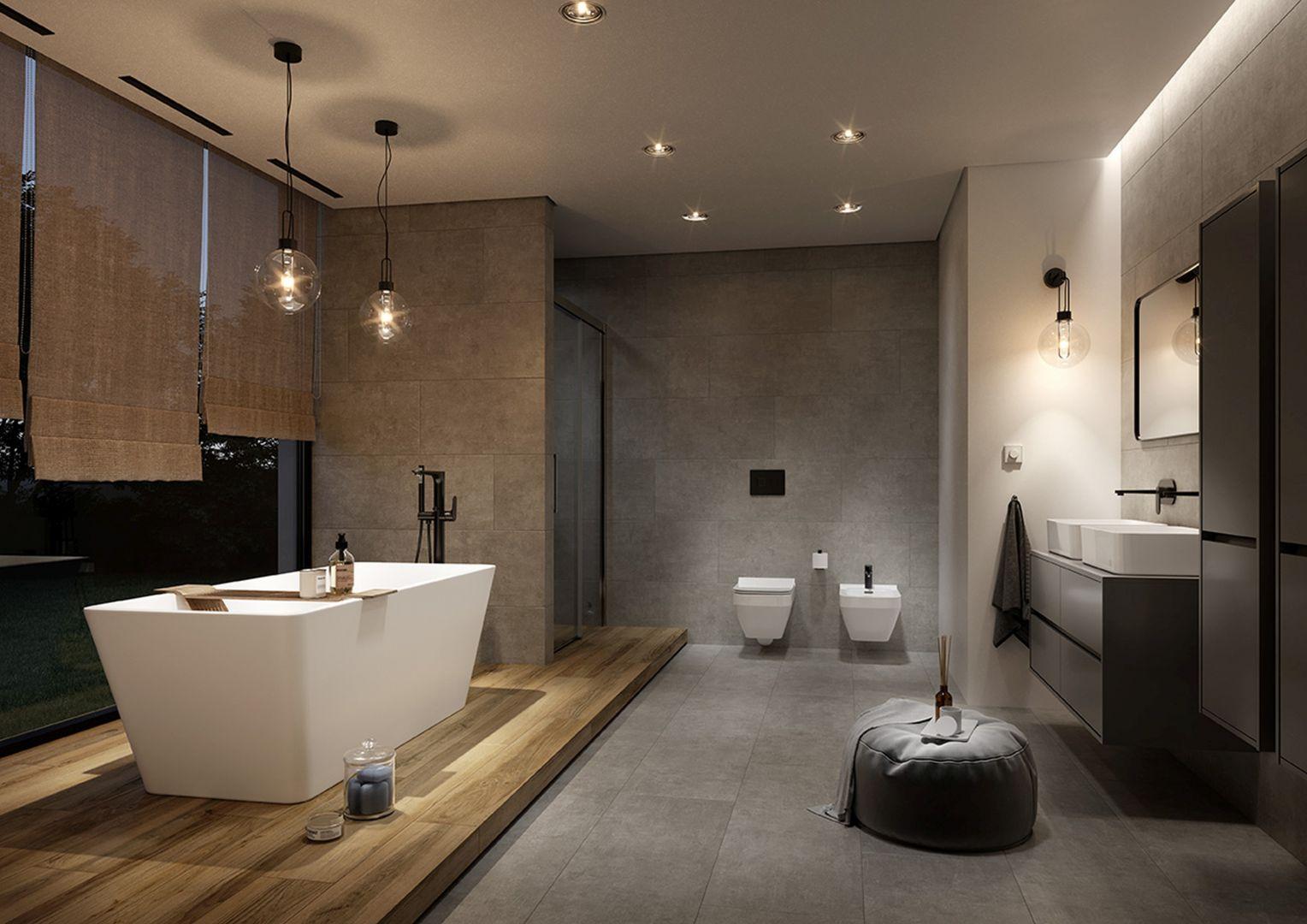 Meble łazienkowe z tej kolekcji charakteryzuje minimalistyczna, ponadczasowa forma i elegancki styl, otrzymany dzięki bezuchwytowym frontom. Fot. Cersanit