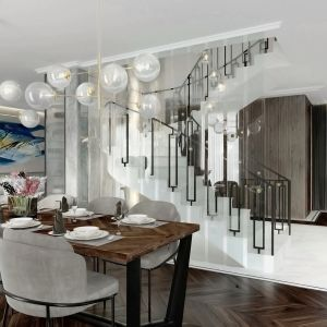 Jadalnia to jedno z najbardziej wszechstronnych wnętrz w całym mieszkaniu, w którym bez względu na rozkład pomieszczeń jeden element wyposażenia pozostaje niezmienny. Projekt Tissu Architecture