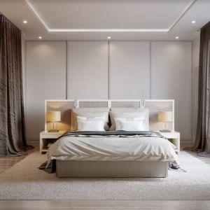 Aby nadać sypialni przytulnego charakteru, warto zdecydować się na zasłony. Fot. Marcin Dekor