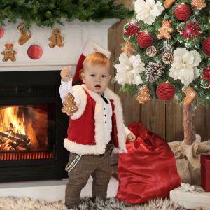 Choinka na pniu to bardzo modny ostatnio pomysł na świąteczną dekorację w domu. Fot. Eurofirany