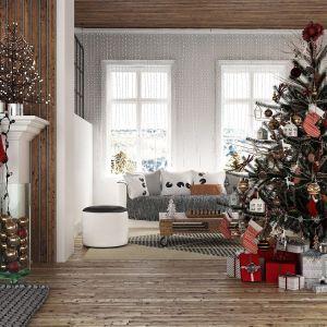 Pomysł na dekorację choinki w tradycyjnym, nieco skandynawskim stylu. Fot. RuckZuck