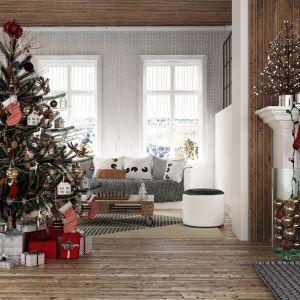 Pomysł na świąteczną aranżację salonu i piękne Bożonarodzeniowe dekoracje. Fot. RuckZuck