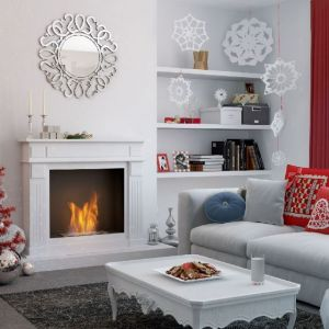 Pomysł na świąteczną aranżację salonu i piękne Bożonarodzeniowe dekoracje. Fot. Kratki