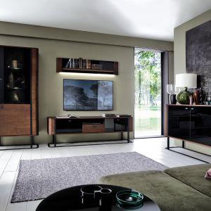 Drewniane meble do salonu z kolekcji Grande dostępne w ofercie firmy Meble Taranko. Fot. Meble Taranko
