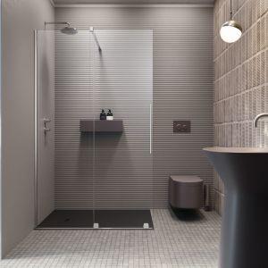 Kabiny z drzwiami przesuwnymi polecane są do małych łazienek. Fot. Radaway