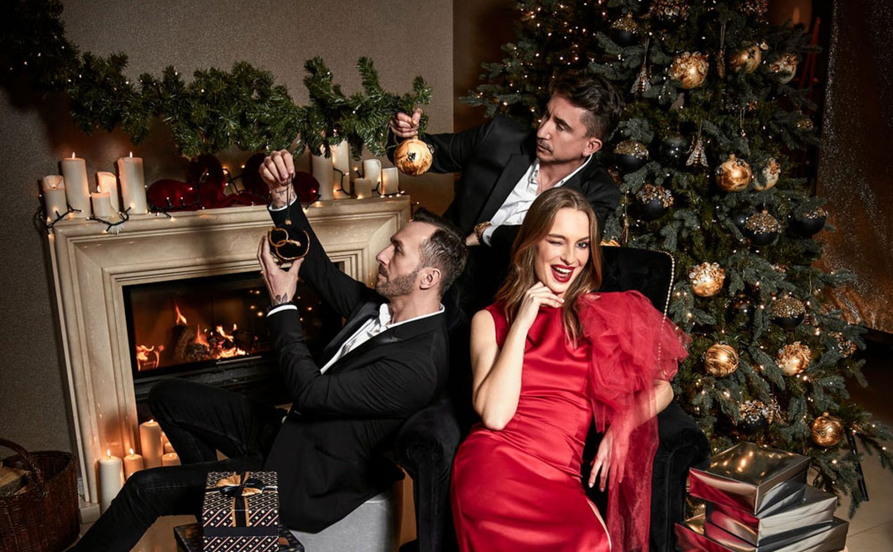 W klimat eleganckich Świąt wpiszą się nowe wzory zaprojektowane przez duet Paprocki&Brzozowski dla Miloo Home. W tym sezonie projektanci mody proponują dwa zestawy bombek. Fot. Miloo Home