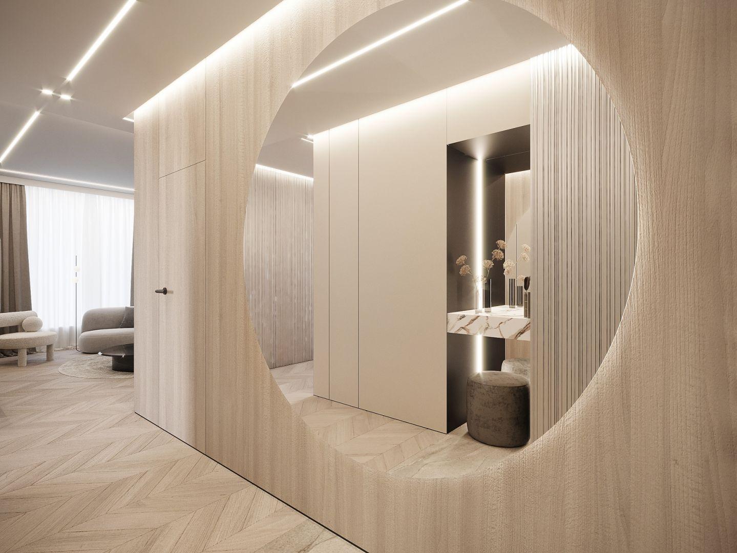 Czteropokojowe mieszkanie jest zlokalizowane w centrum Warszawy i liczy prawie 100 m² powierzchni. Projekt i zdjęcia: Moovin Interiors