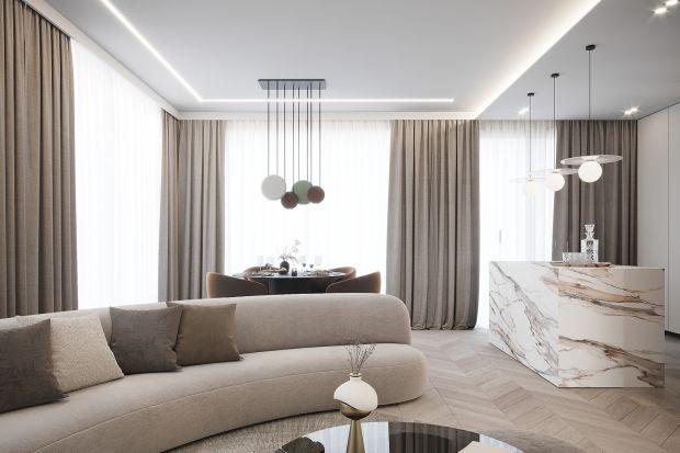 Mieszkanie w beżach i brązach: elegancki projekt 100-metrowego apartamentu