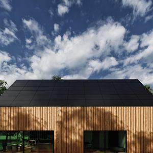 W projekcie można zauważyć inspirację architekturą skandynawską, modernizmem oraz zastosowaniem ekologicznych materiałów takich jak drewno. Fot. mat. prasowe SunRoof