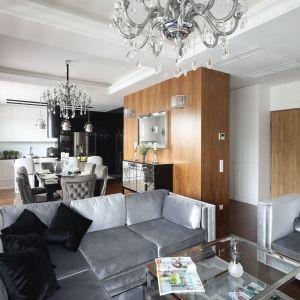 Fotel i sofę do salonu wybrano z tej samej kolekcji. Projekt: Katarzyna Mikulska-Sękalska. Fot. BartoszJarosz