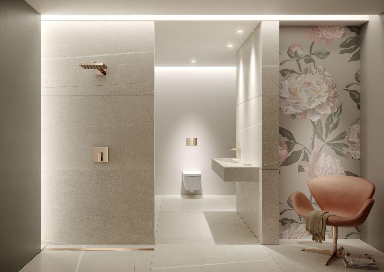 Wybierając płytki ceramiczne do luksusowej łazienki warto skierować swoją uwagę na motywy naturalne, których piękno zachwyca od pokoleń. Fot. Tece