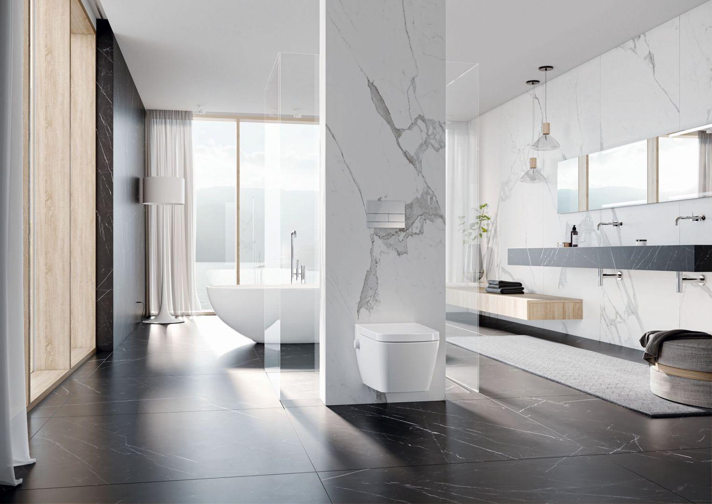 Pierwszym elementem, który warto wziąć pod rozwagę podczas aranżacji łazienki jest odpowiednie zagospodarowanie przestrzeni. Fot. Tece