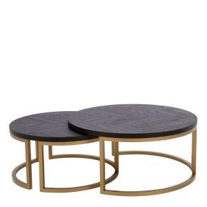 Komplet stolików z kolekcji Isiolo. Wysokość stolików: 38 cm i 42 cm. Cena: 2.099 zł. Fot. Salony Agata
