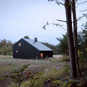 Dom położony jest na malowniczo położonej działce w pobliżu Jeziora Gowidlińskiego. Projekt i zdjęcia: architekt Grzegorz Layer