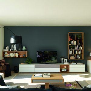 Białe meble do salonu z kolekcji Team7 - Cubus dostępne wofercie firmy Huelsta. Fot. Huelsta