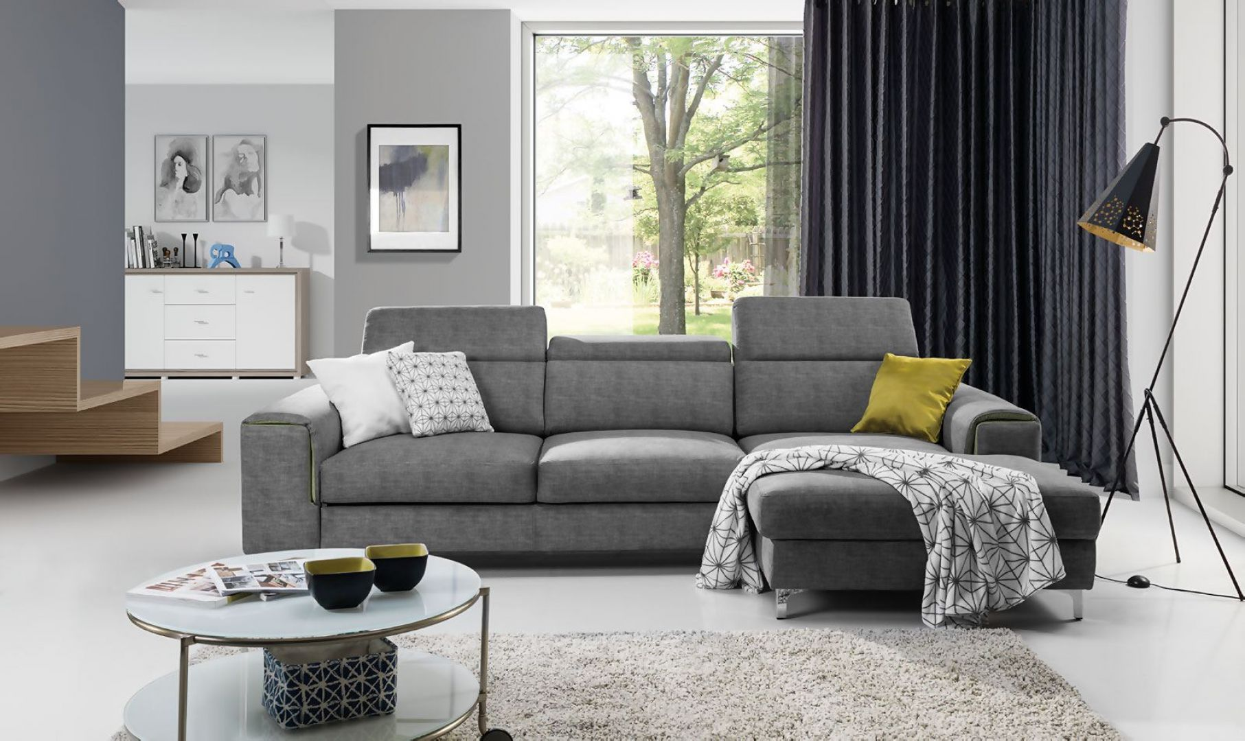 Sofa z funkcją spania z kolekcji Genova dostępna w ofercie firmy Stagra Meble. Fot. Stagra Meble