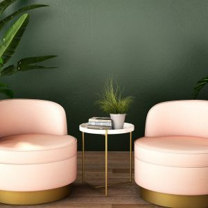 Głęboko matowa, naturalna oraz kojąca ciemnozielona barwa Avocado z palety ceramicznej farby do wnętrz Home&Style. Fot. Dekoral