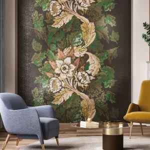 Mozaika Dancing Flowers z inspirowanej naturą linii dekoracyjnych ornamentów. Fot. Mosaico+.