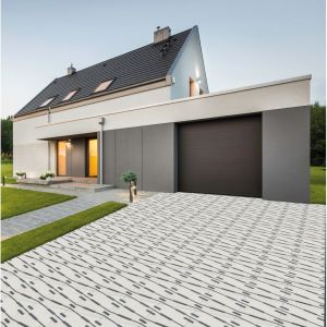 Polbruk Extrano charakteryzuje niesztampowy i bardzo nowoczesny design. Płyta ma kształt kwadratu o wymiarze 50x50 cm i grubość 7 cm.