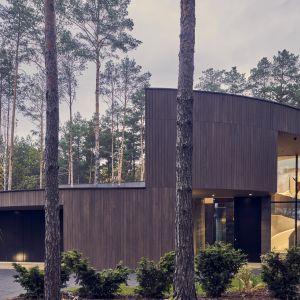 Mieszkańcy domu czują się jakby spacerowali wśród drzew nawet w środku budynku. Projekt: Przemysław Olczyk Mobius Architekci