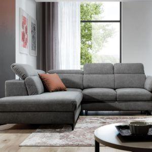Narożnik Merano to świetny wybór do nowoczesnego salonu. Ma on prosty, ładny kształt, dzięki czemu będzie pięknie wyglądał we wnętrzu. Fot. Stagra Meble