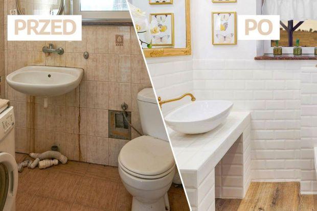 Ta łazienka to połączenie stylu skandynawskiego, rustykalnego i glamour. Jak taka mieszanka zdaje egzamin we wnętrzu? Znakomicie! Zobaczcie, jaką metamorfozę przeszła ta toaleta!