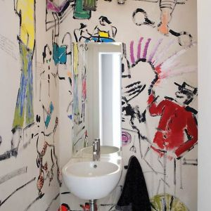 Funkcjonalna łazienka z charakterem. Materiały prasowe KULCZYŃSKI ARCHITEKT
