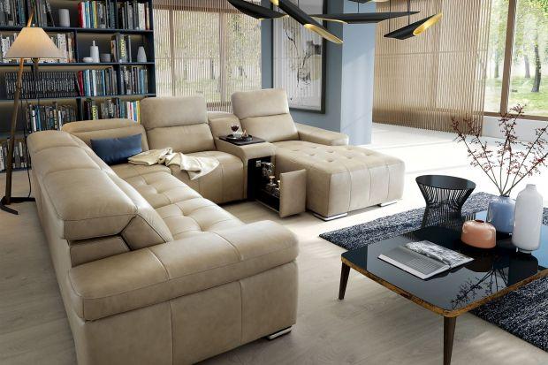 Sofa w salonie. Narożniki w kształcie litery U