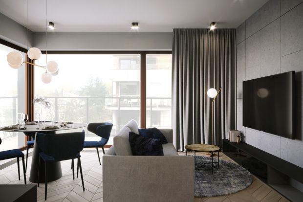 Zlokalizowane na warszawskim Mokotowie mieszkanie liczy 74 m² powierzchni. Minimalistyczne, nowoczesne wnętrze topołączenie elegancji, czerni i wyjątkowego oświetlenia, nadającego przestrzeni klimatu.