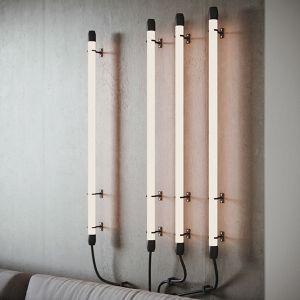 Ciekawie rozwiązane oświetlenie za kanapą w salonie. Projekt: Zuzanna Pikiel, Agata Piltz, pracownia p2 Pikiel&Piltz. Wizualizacje: Blok Studio Michał Morzy