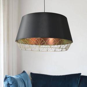 Lampa wisząca Gatsby, czarno-miedziana. 1663 zł. Marka: Market Set. Sprzedaż: 9design.pl