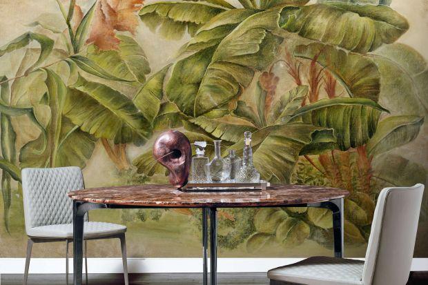 """Dzięki niezwykłej grafice kolekcji Ambiente, WallPepper® / Group, styl miejskiej dżungli podbija ściany, a natura z jej kolorami, cudami i """"mieszkańcami"""" staje się bohaterem wystroju wnętrza. Egzotyczne i odległe miejsca opowiedziane są na �"""