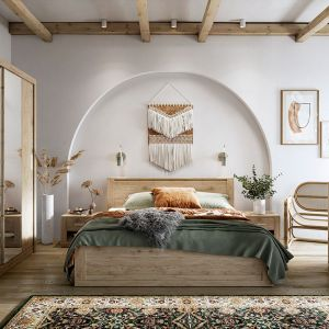 Sypialnia Idea w kolorze drewna. Fot. Dignet Lenart
