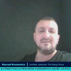 Konrad Krusiewicz, architekt, założyciel, The Design Group
